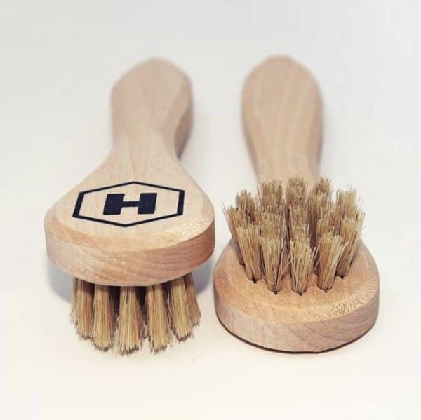 Brosse en Bois Hydrop Clean Nettoyage à Sec Chaussures Basket Cuir Tissu Coton Accessoire Nettoyage Entretien Textiles