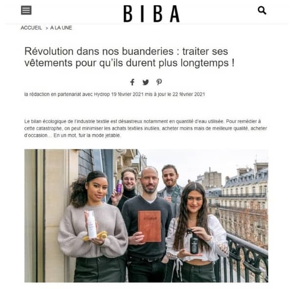 Article magazine Biba hydrop